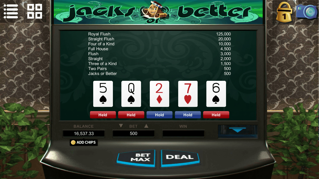 Videopoker - Jacks or better